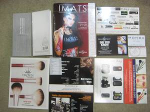 brochures and flyers I picked up at IMATS