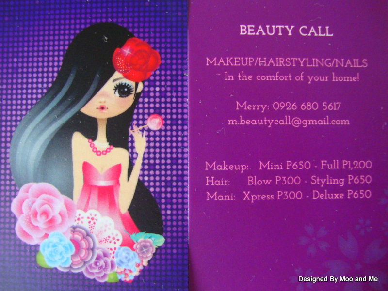 Beauty Call Card Front and Back