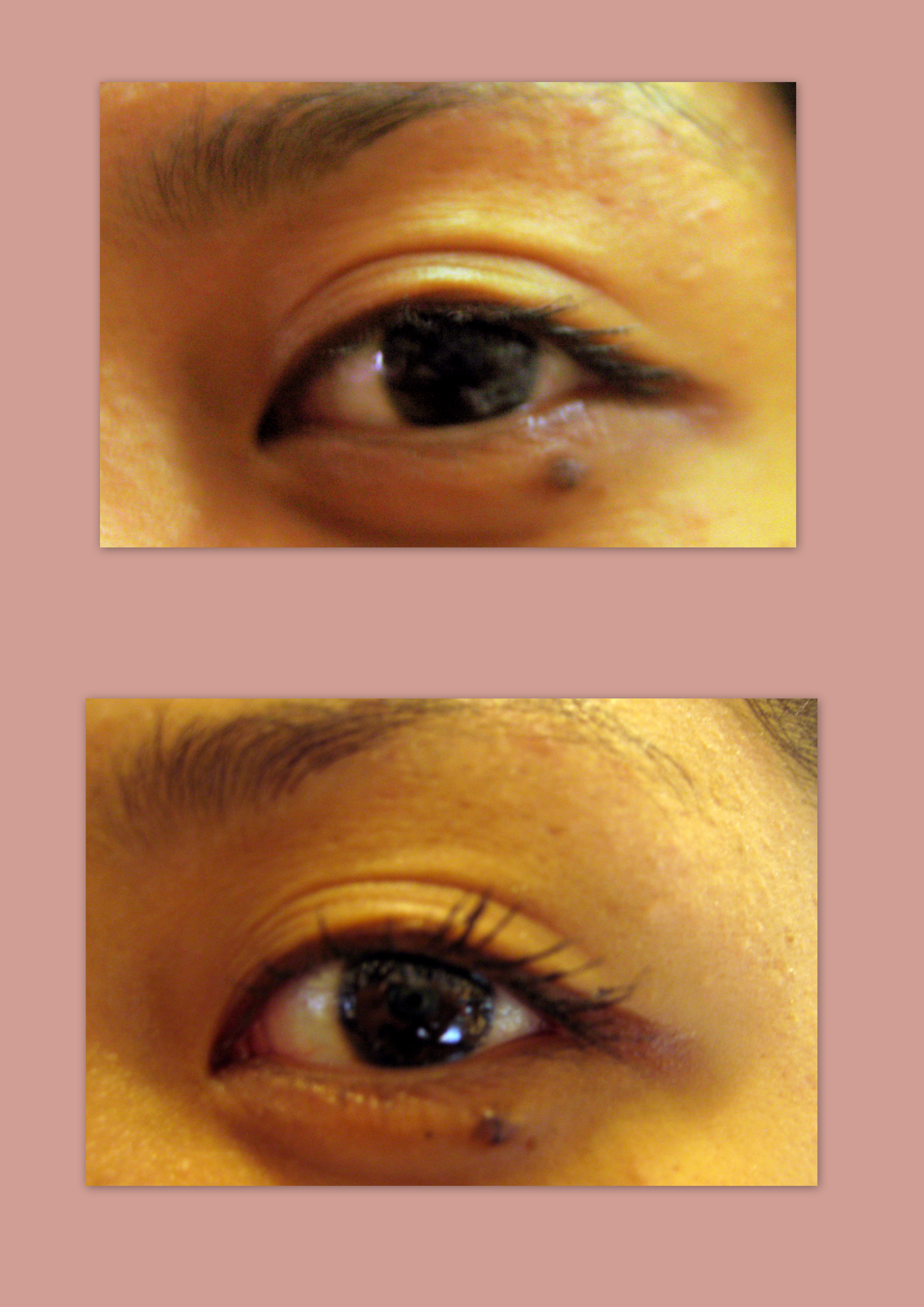 Eye with mascara