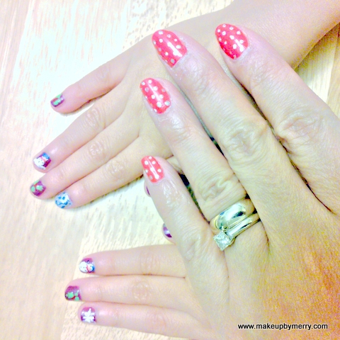 Christmas Nail Art, festive nail designs for kids, By makeup by merry.