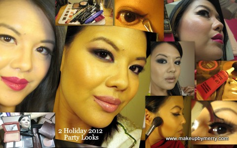 Holiday 2012 Party Looks, Smoky eyes, red lips makeupbymerry