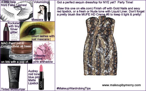 makeup tips, NYE party makeup tips 2012, makeup wardrobing