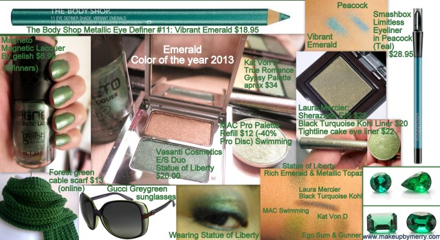 How to makeup 2013 Color of the year Emerald